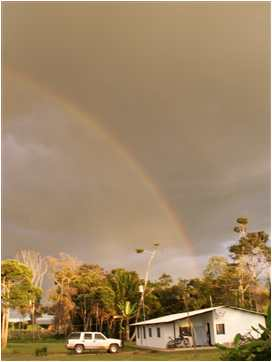 Rainbow over Norton's house in Venezuela
